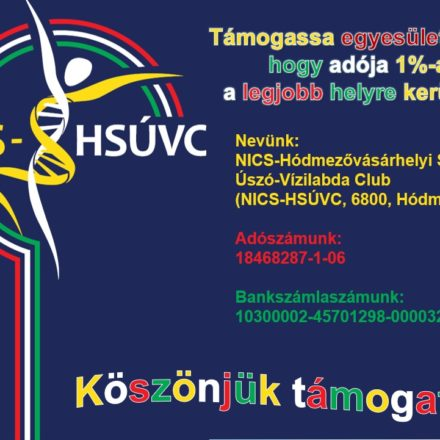 Támogassa adója 1%-ával a NICS-HSÚVC-t!